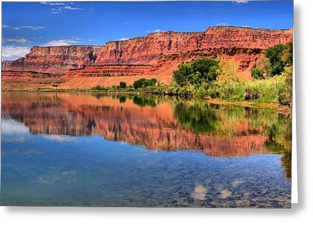 Cliff Lee Greeting Cards - Lees Ferry Panorama Greeting Card by Adam Jewell