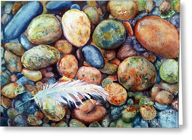 Colored Stones Greeting Cards - Left behind Greeting Card by Patricia Pushaw
