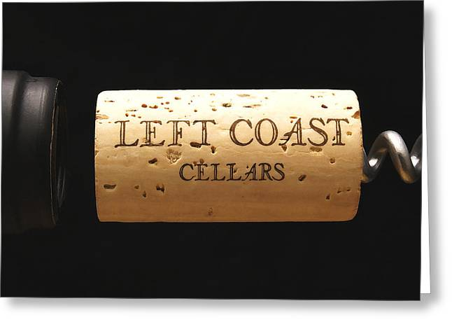 Red Wine Prints Greeting Cards - Left Coast Cellars Greeting Card by Gerry Wilson