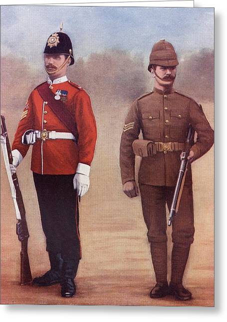 West Yorkshire Greeting Cards - Left. Colour-sergeant Of The West Greeting Card by Ken Welsh