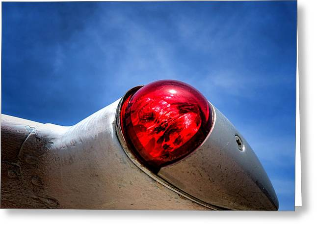 Wingtips Greeting Cards - Left Wing Light   Greeting Card by Olivier Le Queinec