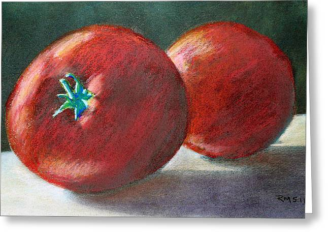 Tomato Pastels Greeting Cards - Lefthand Reds Greeting Card by Richard Smith