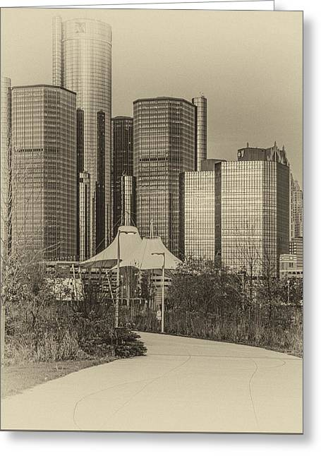 Renaissance Center Greeting Cards - Legacy... Greeting Card by Kenneth Raymond