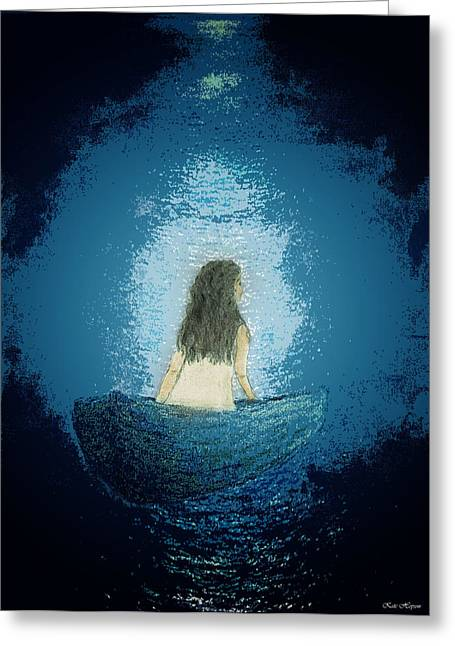 Floating Girl Greeting Cards - Legacy Of Silence Greeting Card by Kate Hopson
