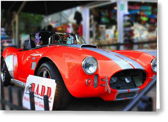 1963 Ford Greeting Cards - Legendary Shelby Cobra  Greeting Card by Iryna Burkova