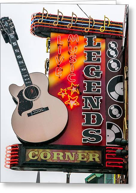 Nashville Tennessee Greeting Cards - Legends Corner Greeting Card by William Krumpelman