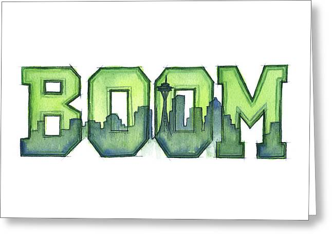 Urban Sport Greeting Cards - Legion of Boom Greeting Card by Olga Shvartsur