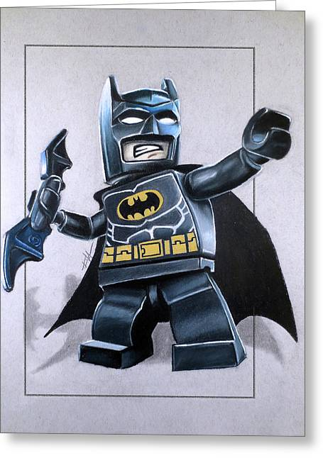 Lego Batman Greeting Card by Thomas Volpe