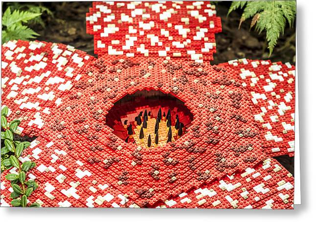 Lego Greeting Cards - Lego Garden Greeting Card by Jijo George