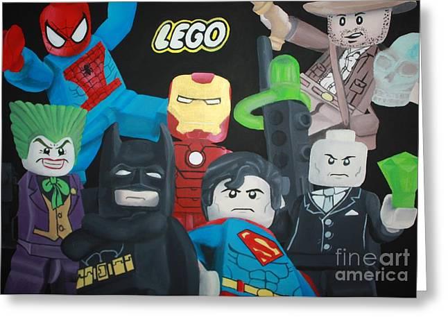 Lego Hero's Greeting Card by Laura Mancini