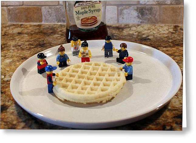 Lego Greeting Cards - Lego My Eggo Greeting Card by Lorraine Baum