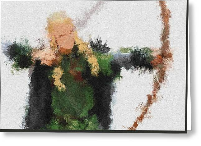 Lord Of The Rings Greeting Cards - Legolas Greeting Card by Miranda Sether