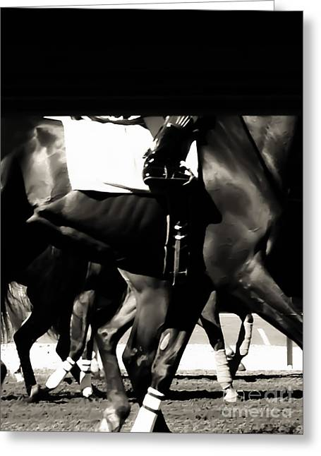 Race Horse Greeting Cards - Legs Greeting Card by Heather Joyce Morrill