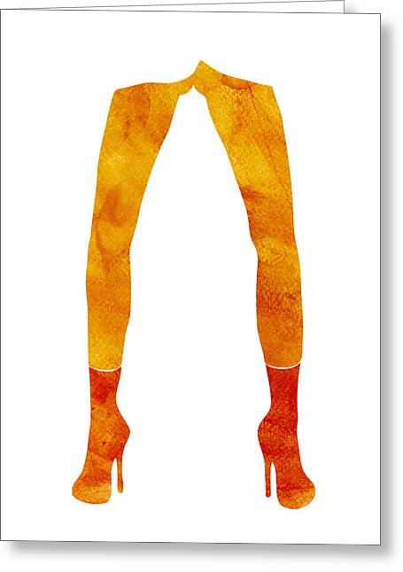 Long Legs Greeting Cards - Legs of a fashion model Greeting Card by Frank Tschakert