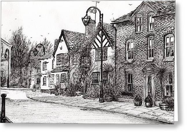 Old Street Greeting Cards - Leigh Arms Prestbury Greeting Card by Vincent Alexander Booth