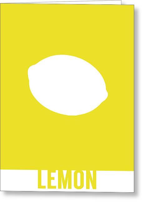 Lemon Food Art Minimalist Fruit Poster Series 012 Greeting Card by Design Turnpike