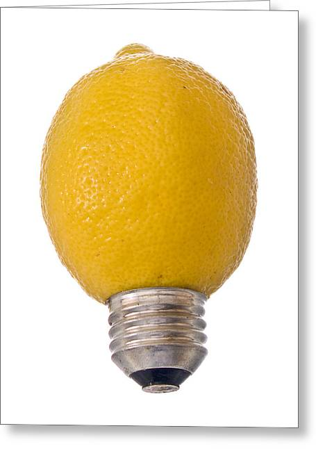 Lemon Light Greeting Card by Jim DeLillo