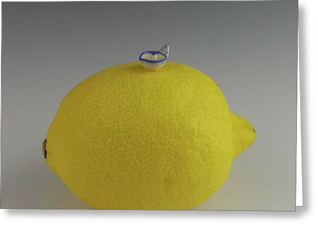 Lemon Peeler Greeting Card by David Bearden