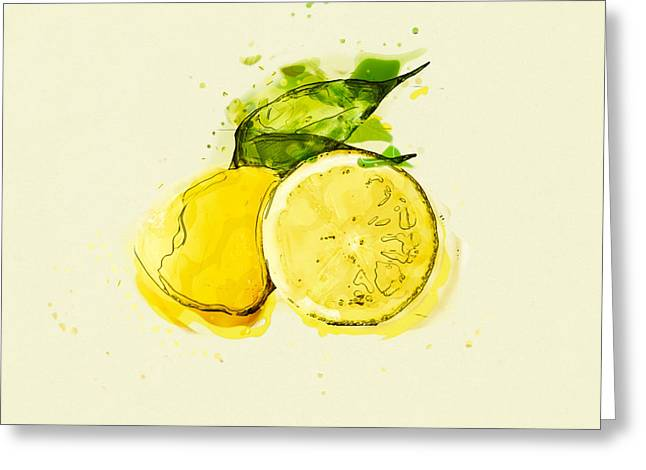 Recently Sold -  - Lemon Art Greeting Cards - Lemon Greeting Card by Stockr