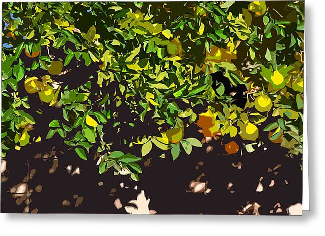 Racquet Greeting Cards - Lemon Tree Very Wally Greeting Card by Stan  Magnan