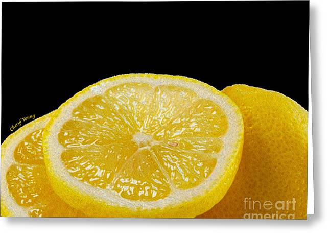 Sour Greeting Cards - Lemons Greeting Card by Cheryl Young