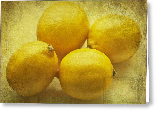 Sour Greeting Cards - Lemons Greeting Card by Nomad Art And  Design
