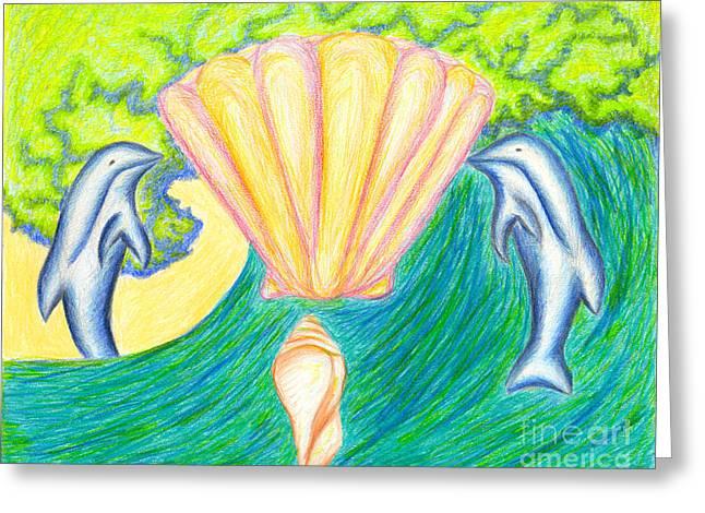 Atlantis Drawings Greeting Cards - Lemuria Atlantis Greeting Card by Kim Sy Ok