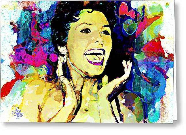 Lena Horne Greeting Card by Lynda Payton