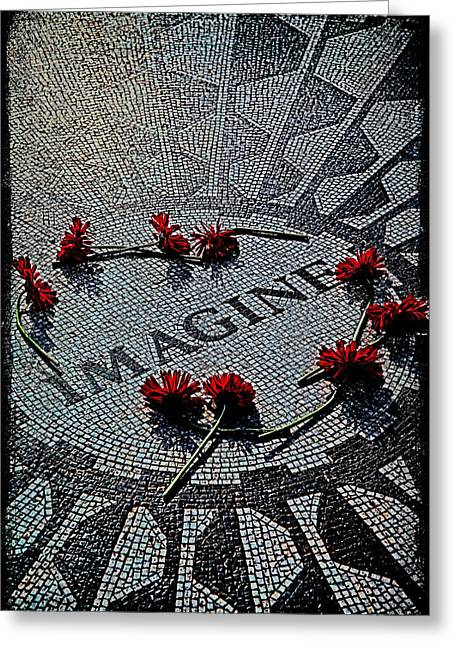 Chris Lord Greeting Cards - Lennon Memorial Greeting Card by Chris Lord