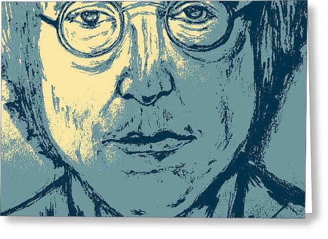 John Lennon Art Drawings Greeting Cards - Lennon Pop Art Greeting Card by Collin A Clarke