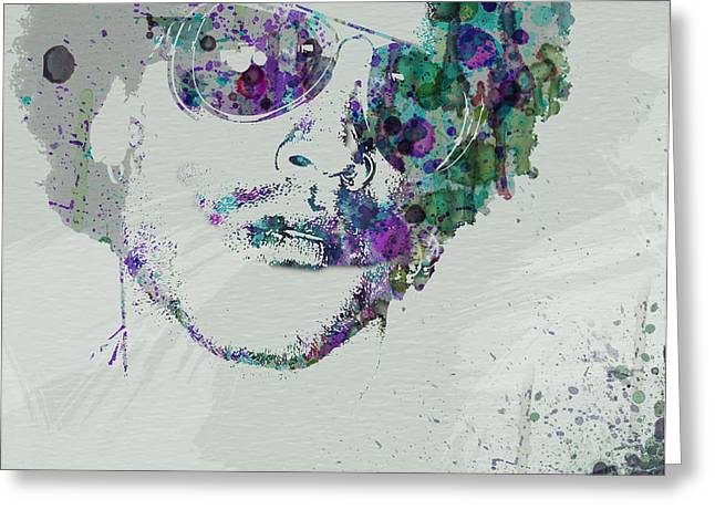 Lenny Kravitz Greeting Card by Naxart Studio