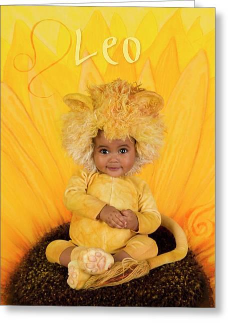Leo Greeting Card by Anne Geddes