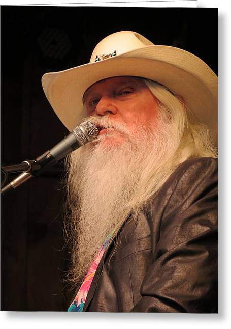 Gospel Greeting Cards - Leon Russell Greeting Card by Julie Turner
