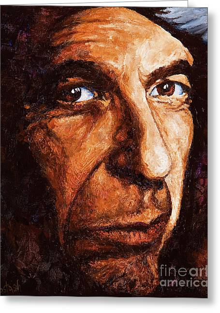 Cohen Greeting Cards - Leonard Cohen Greeting Card by Igor Postash
