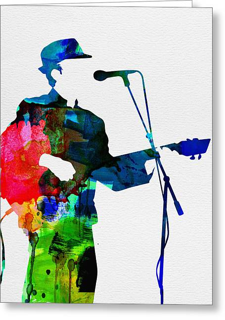 Disco Greeting Cards - Leonard Watercolor Greeting Card by Naxart Studio