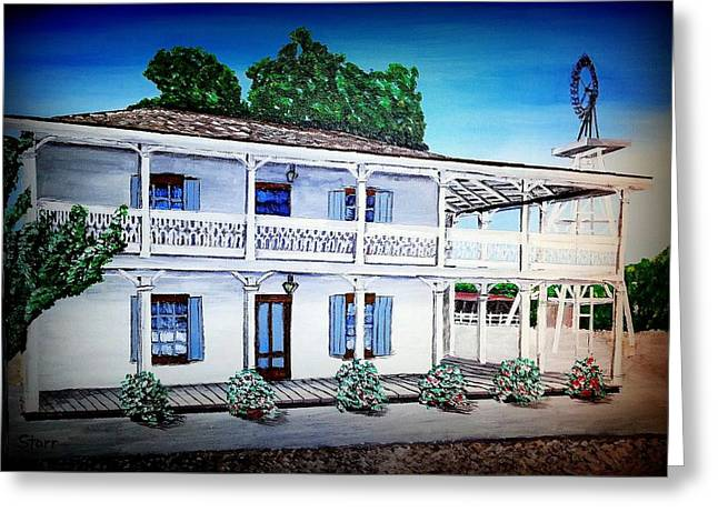 Wife Greeting Cards - Leonis Adobe Painting Greeting Card by Irving Starr