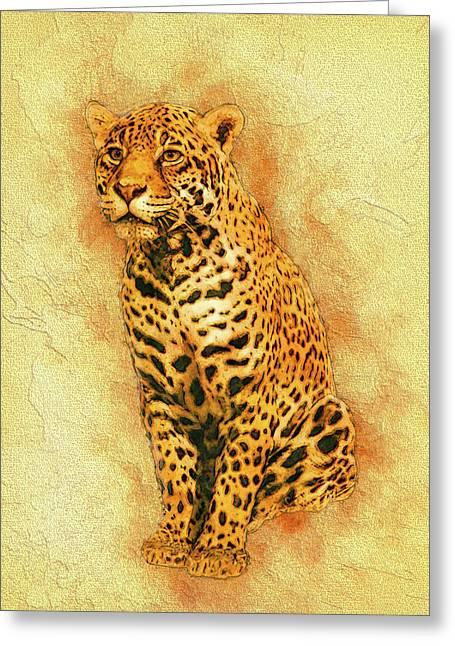 Leopard 4 Greeting Card by Jack Zulli