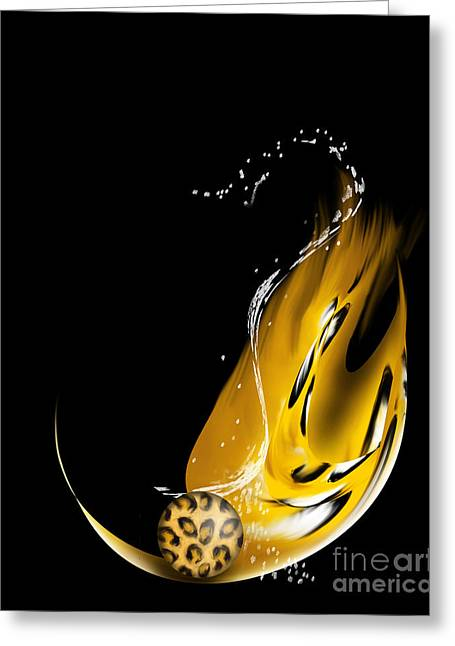 Rosette Paintings Greeting Cards - Leopard Greeting Card by Kathryn L Novak