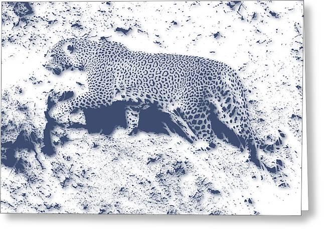 Leopard5 Greeting Card by Joe Hamilton