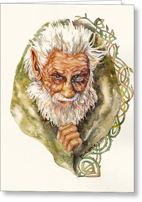 Imps Greeting Cards - Leprechaun  Greeting Card by Peggy Wilson