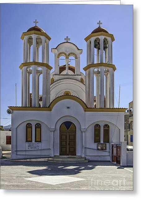 Petra Greeting Cards - Lerapetra church Greeting Card by Antony McAulay