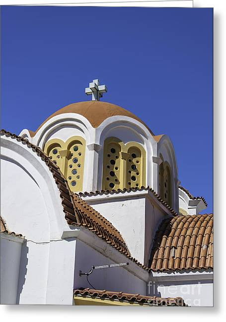 Petra Greeting Cards - Lerapetra church dome Greeting Card by Antony McAulay