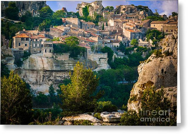 Les-baux-de-provence Greeting Card by Inge Johnsson