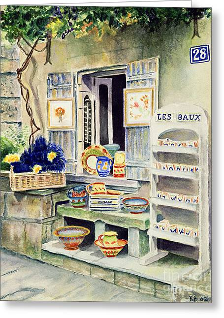 Provence Village Greeting Cards - Les Baux Greeting Card by Karen Fleschler