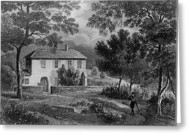 Les Charmettes House Of Madame De Warens Near Chambery Greeting Card by French School