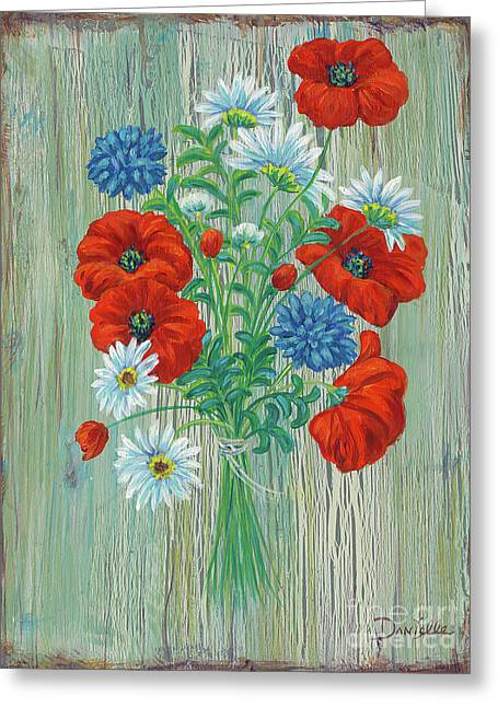 Les Coquelicots Greeting Card by Danielle Perry