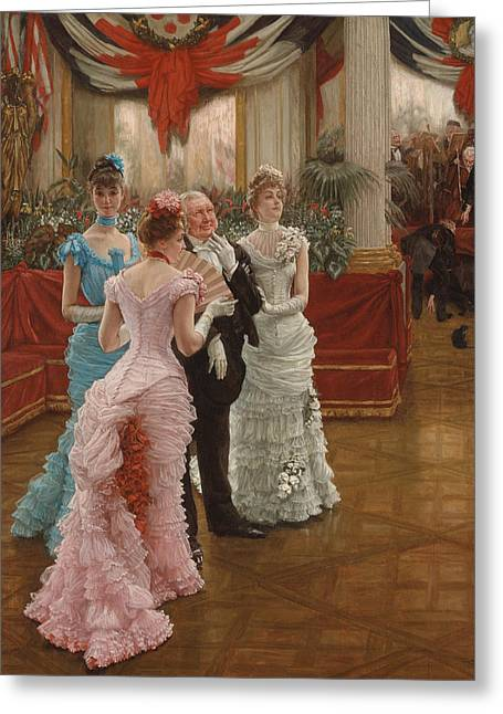 Les Demoiselles De Province Greeting Card by James Jacques Joseph Tissot