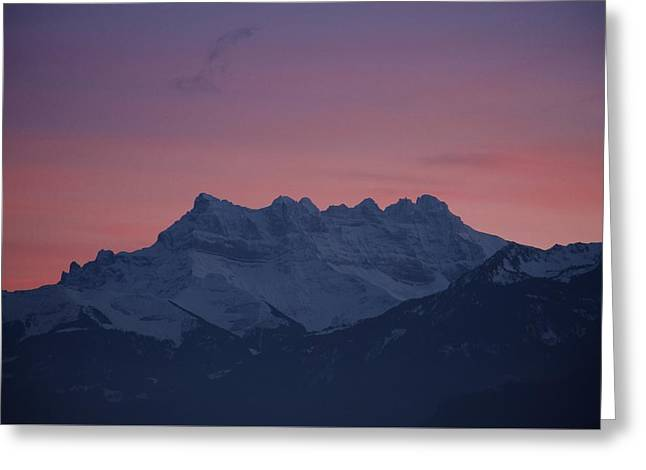 Midi Greeting Cards - Les Dents du Midi Greeting Card by Colleen Williams