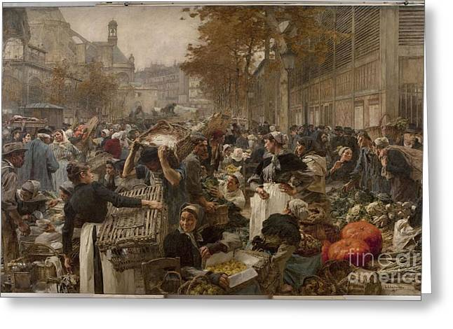 Halle Greeting Cards - Les Halles Greeting Card by Celestial Images