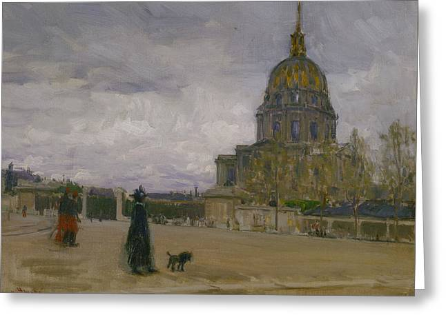 Les Invalides, Paris Greeting Card by Henry Ossawa Tanner